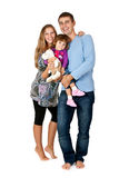 Happy father, mother and daughter Stock Photos