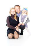 Happy father and mother and little daughter Stock Images