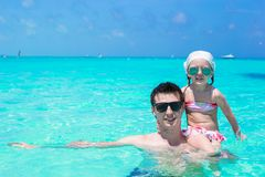 Happy father play with little daughter in perfect Royalty Free Stock Photos