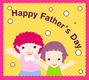 Happy father's day. Vector illustration of a card of father's day Royalty Free Stock Image