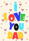 Happy father's day stock illustration