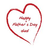 Happy Father's Day. A Happy Father's Day card Stock Photos