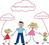 Happy father's day Stock Images