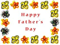 Happy Father's day. Message Royalty Free Stock Images