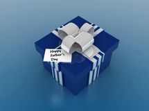 Happy Father's day. Father's day message and gift box Royalty Free Stock Images