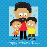 Happy Father's Day African American Royalty Free Stock Image
