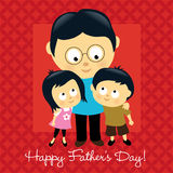 Happy Father's Day Asian Stock Photo