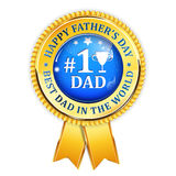 Happy Father`s Day award ribbon Royalty Free Stock Photography