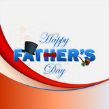 Happy Father's day background with 3d text Stock Images
