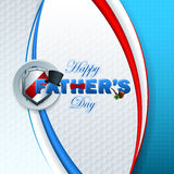 Happy Father's day background with 3d text Stock Photography