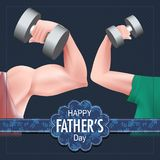 Happy Father`s Day background showing bonding and relationship between kid and father. Easy to edit vector illustration of Happy Father`s Day background showing royalty free illustration