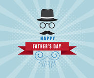 Happy father's day background. Vector illustration Royalty Free Stock Photo