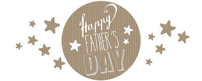 Happy Father`s day banner Stock Photos