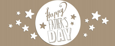 Happy Father`s day banner Royalty Free Stock Photography