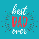 Happy Father`s Day banner and giftcard. Vector Illustration. Stock Image