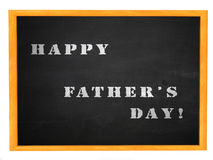 Happy Father's day on blackboard Royalty Free Stock Image