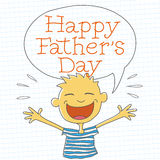 Happy Father's Day Boy Royalty Free Stock Photo