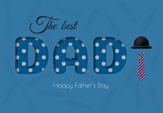 Happy Father s Day Calligraphy greeting card. Royalty Free Stock Images