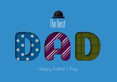Happy Father s Day Calligraphy greeting card. Stock Image