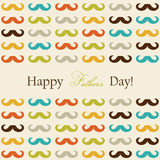 Happy Father's Day card. With mustache Royalty Free Stock Images