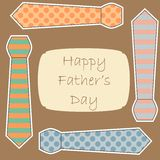 Happy Fathers Day card. Happy Fathers Day cute card Stock Images