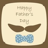 Happy Fathers Day card. Happy Fathers Day cute card Royalty Free Stock Photo