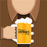 Happy Father's Day Card - Cheers For Super Dad!. A happy father's day card design using dad and beer visual Stock Images