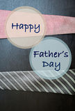 Happy Father`s day card concept. Happy father`s day banner over business concept background Royalty Free Stock Images