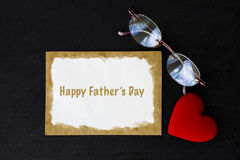 Happy Father`s day card concept. On black background Royalty Free Stock Photo