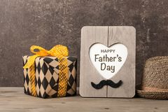 Happy Father`s Day card. Copy space stock photos