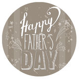 Happy Father`s day card stock illustration
