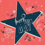 Happy Father`s day card Royalty Free Stock Photo