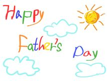 Happy father`s day card Royalty Free Stock Photos