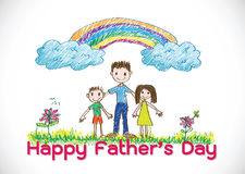 Happy Father's Day card idea design Royalty Free Stock Photo