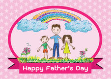 Happy Father's Day card idea design Stock Images