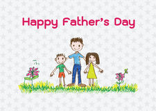 Happy Father's Day card idea design Royalty Free Stock Image