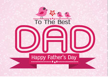 Happy Father's Day card idea design Royalty Free Stock Photos