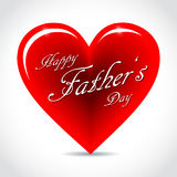 Happy Father's Day Card. Happy Father's Day Illustration with Beautiful Heart Stock Images