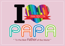 Happy Father's Day card , love PAPA or DAD Stock Photography