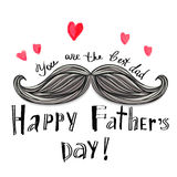 Happy father's day card Stock Photography