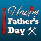 Happy Father's Day card retro style Royalty Free Stock Images