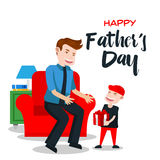 Happy Father's Day Card - Special Gift For Daddy Stock Photo
