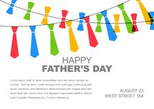 Happy Father`s day card template Royalty Free Stock Photography