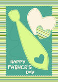 Happy Father's Day Card with Tie Stock Image
