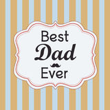 Happy father's day card Stock Images