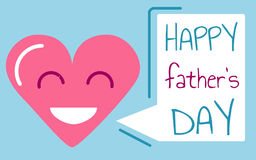 Happy Father`s Day Card  vector Stock Image