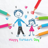 Happy Father's day card.Vector illustration Stock Image