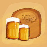 Happy Fathers Day celebration with beers. Stock Photos