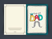 Happy Fathers Day celebration greeting card design. Royalty Free Stock Image