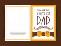 Happy Fathers Day celebration greeting card design. Stock Photos